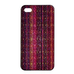 Colorful And Glowing Pixelated Pixel Pattern Apple Iphone 4/4s Seamless Case (black) by Amaryn4rt