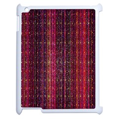 Colorful And Glowing Pixelated Pixel Pattern Apple Ipad 2 Case (white) by Amaryn4rt