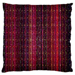 Colorful And Glowing Pixelated Pixel Pattern Large Cushion Case (two Sides) by Amaryn4rt