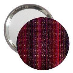 Colorful And Glowing Pixelated Pixel Pattern 3  Handbag Mirrors by Amaryn4rt