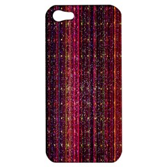 Colorful And Glowing Pixelated Pixel Pattern Apple Iphone 5 Hardshell Case by Amaryn4rt