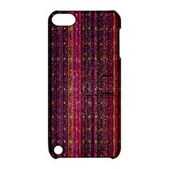 Colorful And Glowing Pixelated Pixel Pattern Apple Ipod Touch 5 Hardshell Case With Stand by Amaryn4rt