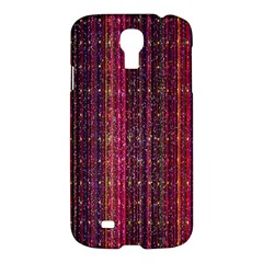 Colorful And Glowing Pixelated Pixel Pattern Samsung Galaxy S4 I9500/i9505 Hardshell Case by Amaryn4rt