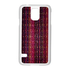 Colorful And Glowing Pixelated Pixel Pattern Samsung Galaxy S5 Case (white) by Amaryn4rt