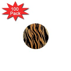 Tiger Animal Print A Completely Seamless Tile Able Background Design Pattern 1  Mini Magnets (100 Pack)