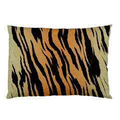 Tiger Animal Print A Completely Seamless Tile Able Background Design Pattern Pillow Case by Amaryn4rt