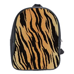 Tiger Animal Print A Completely Seamless Tile Able Background Design Pattern School Bags(large)  by Amaryn4rt