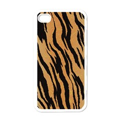 Tiger Animal Print A Completely Seamless Tile Able Background Design Pattern Apple Iphone 4 Case (white) by Amaryn4rt