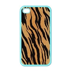 Tiger Animal Print A Completely Seamless Tile Able Background Design Pattern Apple Iphone 4 Case (color) by Amaryn4rt