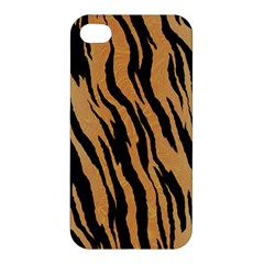 Tiger Animal Print A Completely Seamless Tile Able Background Design Pattern Apple Iphone 4/4s Hardshell Case by Amaryn4rt