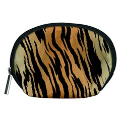 Tiger Animal Print A Completely Seamless Tile Able Background Design Pattern Accessory Pouches (medium)  by Amaryn4rt