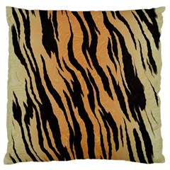 Tiger Animal Print A Completely Seamless Tile Able Background Design Pattern Large Flano Cushion Case (two Sides) by Amaryn4rt