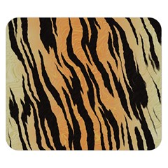 Tiger Animal Print A Completely Seamless Tile Able Background Design Pattern Double Sided Flano Blanket (small)  by Amaryn4rt