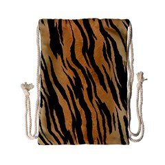 Tiger Animal Print A Completely Seamless Tile Able Background Design Pattern Drawstring Bag (small)