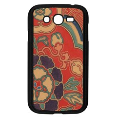 Vintage Chinese Brocade Samsung Galaxy Grand Duos I9082 Case (black) by Amaryn4rt