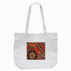 Vintage Chinese Brocade Tote Bag (white) by Amaryn4rt