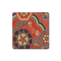 Vintage Chinese Brocade Square Magnet by Amaryn4rt