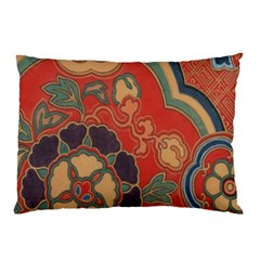 Vintage Chinese Brocade Pillow Case by Amaryn4rt