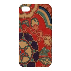 Vintage Chinese Brocade Apple Iphone 4/4s Premium Hardshell Case by Amaryn4rt