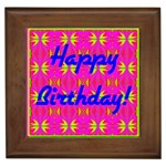 Happy Birthday! Framed Tiles Front