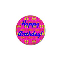 Happy Birthday! Golf Ball Marker by Amaryn4rt