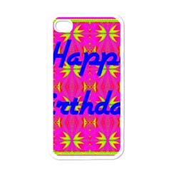 Happy Birthday! Apple Iphone 4 Case (white) by Amaryn4rt