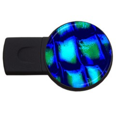 Blue Scales Pattern Background Usb Flash Drive Round (2 Gb) by Amaryn4rt