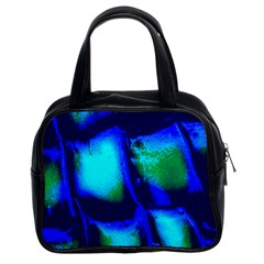 Blue Scales Pattern Background Classic Handbags (2 Sides) by Amaryn4rt