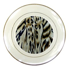 Tiger Background Fabric Animal Motifs Porcelain Plates