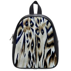 Tiger Background Fabric Animal Motifs School Bags (small)