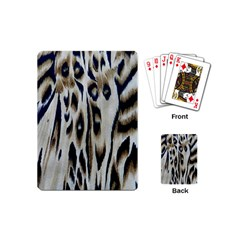 Tiger Background Fabric Animal Motifs Playing Cards (mini)  by Amaryn4rt