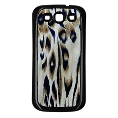 Tiger Background Fabric Animal Motifs Samsung Galaxy S3 Back Case (black) by Amaryn4rt