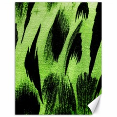 Green Tiger Background Fabric Animal Motifs Canvas 18  X 24