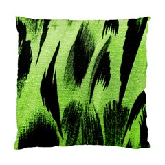 Green Tiger Background Fabric Animal Motifs Standard Cushion Case (one Side) by Amaryn4rt