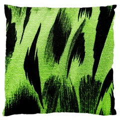 Green Tiger Background Fabric Animal Motifs Large Cushion Case (one Side) by Amaryn4rt