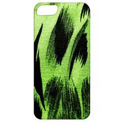 Green Tiger Background Fabric Animal Motifs Apple Iphone 5 Classic Hardshell Case by Amaryn4rt