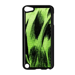 Green Tiger Background Fabric Animal Motifs Apple Ipod Touch 5 Case (black) by Amaryn4rt