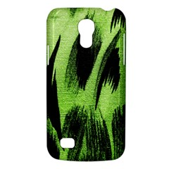 Green Tiger Background Fabric Animal Motifs Galaxy S4 Mini by Amaryn4rt