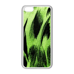 Green Tiger Background Fabric Animal Motifs Apple Iphone 5c Seamless Case (white) by Amaryn4rt