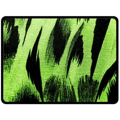 Green Tiger Background Fabric Animal Motifs Double Sided Fleece Blanket (large)  by Amaryn4rt