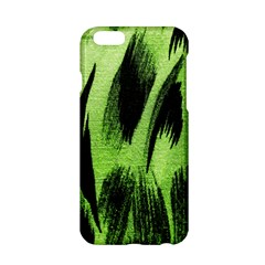 Green Tiger Background Fabric Animal Motifs Apple Iphone 6/6s Hardshell Case by Amaryn4rt
