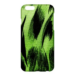 Green Tiger Background Fabric Animal Motifs Apple Iphone 6 Plus/6s Plus Hardshell Case by Amaryn4rt