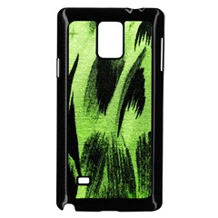 Green Tiger Background Fabric Animal Motifs Samsung Galaxy Note 4 Case (black) by Amaryn4rt