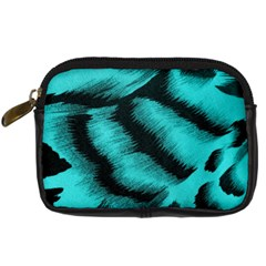 Blue Background Fabric Tiger  Animal Motifs Digital Camera Cases by Amaryn4rt