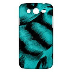 Blue Background Fabric Tiger  Animal Motifs Samsung Galaxy Mega 5 8 I9152 Hardshell Case  by Amaryn4rt