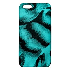 Blue Background Fabric Tiger  Animal Motifs Iphone 6 Plus/6s Plus Tpu Case