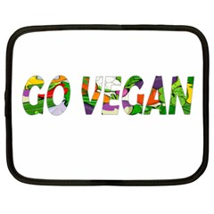 Go Vegan Netbook Case (xxl)  by Valentinaart