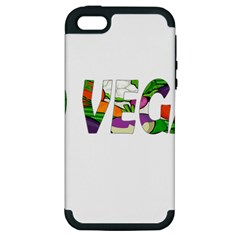Go Vegan Apple Iphone 5 Hardshell Case (pc+silicone) by Valentinaart
