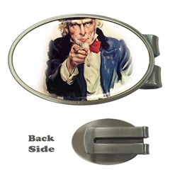 Uncle Sam Money Clips (oval)  by Valentinaart