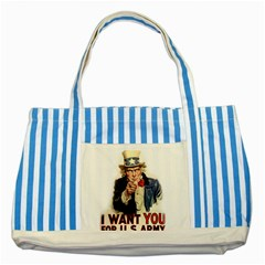 Uncle Sam Striped Blue Tote Bag by Valentinaart